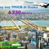 Vé máy bay TPHCM đi Osaka (Sài Gòn - Kansai)Thai Airways từ 6.231k