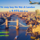 Vé máy bay Hà Nội đi London (HAN-LHR) Vietnam Airlines từ 9.975.000 đ