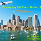 Vé máy bay Sài Gòn Boston (TPHCM đi Boston, BOS) Cathay Pacific
