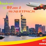 Vé máy bay Hà Nội đi TPHCM (Sài Gòn) Vietjet khuyến mãi từ 89k