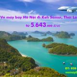 Vé máy bay Hà Nội đi Koh Samui (HAN – USM) Vietnam Airlines 5.643k