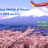 Vé máy bay Vietjet Air TPHCM đi Tokyo (Hồ Chí Minh – Narita) từ 3.802k
