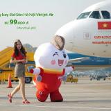 Giá vé máy bay TPHCM đi Hà Nội Vietjet tháng 5 6 7/2020 từ 99.000 đ