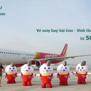 Vé máy bay Sài Gòn Vinh tháng 9/2020 khuyến mãi từ 565.000 đ