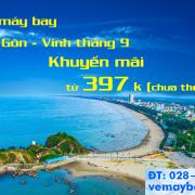 Vé máy bay Sài Gòn Vinh tháng 9/2019, nhiều vé rẻ, khuyến mãi từ 397k