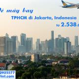 Vé máy bay TPHCM đi Jakarta (Sài Gòn–Jakarta) Vietnam Airlines 2.538k