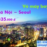 Vé máy bay Hà Nội đi Seoul (Hà Nội–Incheon) tháng 10 rẻ nhất 1.835k