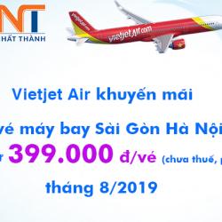 Vé máy bay Sài Gòn Hà Nội Vietjet Air khuyến mãi tháng 8 từ 399k