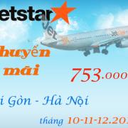 Vé máy bay Sài Gòn Hà Nội tháng 10, 11, 12 chỉ từ 753000 đ