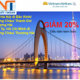 VIETNAM AIRLINE KHUYẾN MÃI ĐI TRUNG QUỐC GIẢM 20% GIÁ VÉ