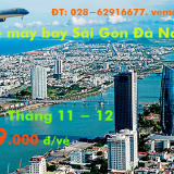 Giá vé máy bay Sài Gòn Đà Nẵng tháng 11, 12 từ 709.000 đ