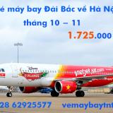 Giá vé máy bay Đài Bắc về Hà Nội (Taipei – Hà Nội) tháng 10, tháng11