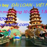 Vé máy bay giá rẻ Đài Loan về Việt Nam tháng 10