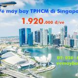Vé máy bay TPHCM đi Singapore (Sài Gòn Singapore) Vietnam Airlines