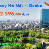 Vé máy bay Hà Nội Osaka (HAN - KIX) khứ hồi Vietjet Air từ 5.217.000 đ