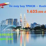 Vé máy bay TPHCM đi Kuala Lumpur (KUL) khứ hồi Vietjet Air 1.635 k