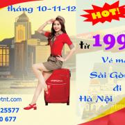 Vé máy bay Sài Gòn Hà Nội khuyến mãi khủng chỉ từ 199k
