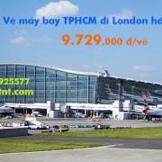 Vé máy bay TPHCM London (Sài Gòn - Luân Đôn, Anh) Eva Airtừ 9.729 k