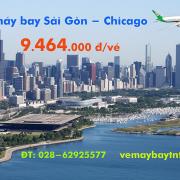 Vé máy bay Sài Gòn Chicago (TPHCM đi Chicago, Mỹ) Eva Air từ 9.464 k