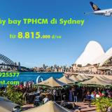 Vé máy bay TP Hồ Chí Minh đi Sydney khứ hồi Singapore Airlines SGN-SYD